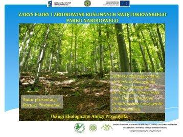 zarys flory i zbiorowisk roślinnych świętokrzyskiego parku narodowego
