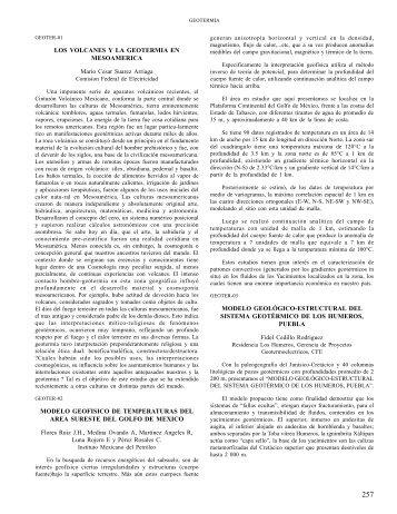 LOS VOLCANES Y LA GEOTERMIA EN MESOAMERICA ... - UGM