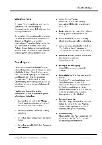 Einsatz von Hilfsmitteln - Juergen Kramer, International Consulting