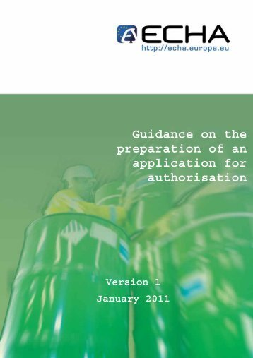 Guidance on Authorisation Applications - ECHA - Europa