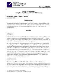 Descriptive Statistics and Gender Differences - University of ...