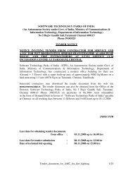 An Autonomous Society under Govt. of India, M - Chennai - STPI