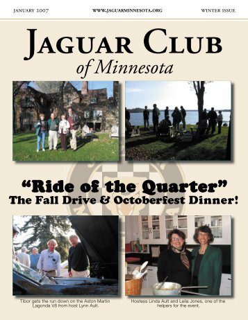 Winter Quarter Newsletter - January, 2007 - Jaguar Club of MN