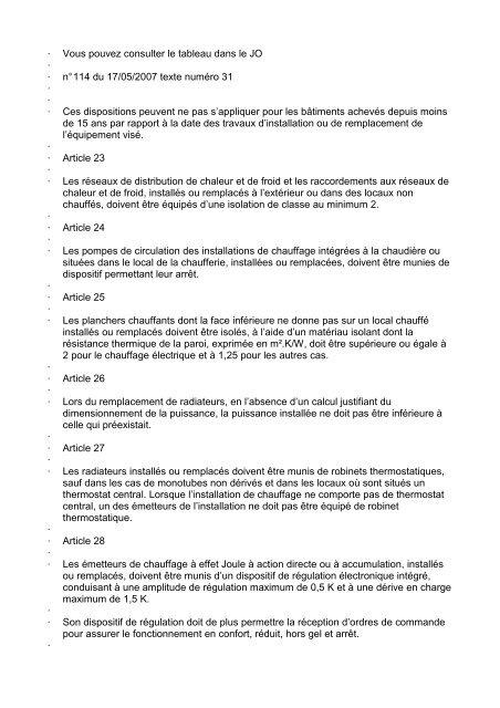 JORF n°114 du 17 mai 2007 texte n° 31 ARRETE ... - Climamaison