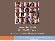 State of the County Health Report - Buncombe County