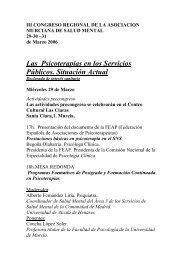 II Congreso Regional de la Asociación Murciana de Salud Mental.