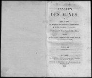 IN ES, - Journal des mines et Annales des mines 1794-1881.