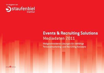 Events & Recruiting Solutions Mediadaten 2011 - Staufenbiel