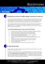 Blackmores Fact Sheet - QCare - Workcast