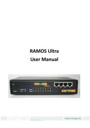 RAMOS Ultra User Manual - Conteg