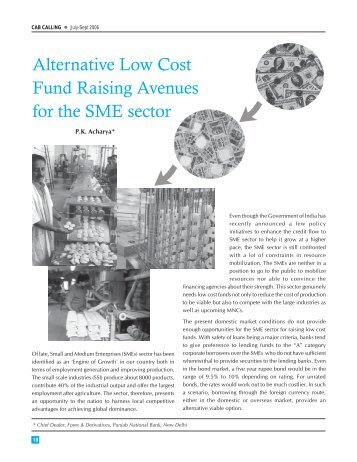 Alternative low cost fro sME -P.K. acharya.pmd - CAB
