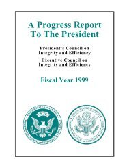 A Progress Report To The President - Council of the Inspectors ...