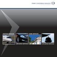 Broschüre Aviation Limousine - Prime Services