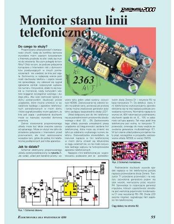 Monitor stanu linii telefonicznej (139KB) - Elportal