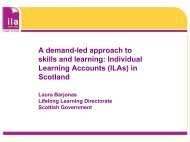 ILAs in Scotland - The Institute for Employment Studies