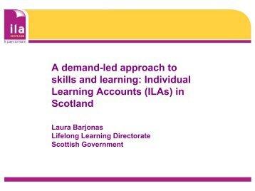 ILAs in Scotland - The Institute for Employment Studies