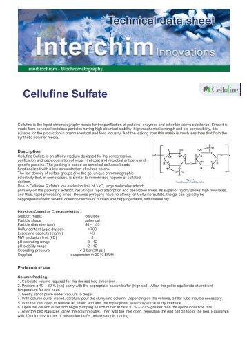 Protocole Cellufine Sulfate - Interchim