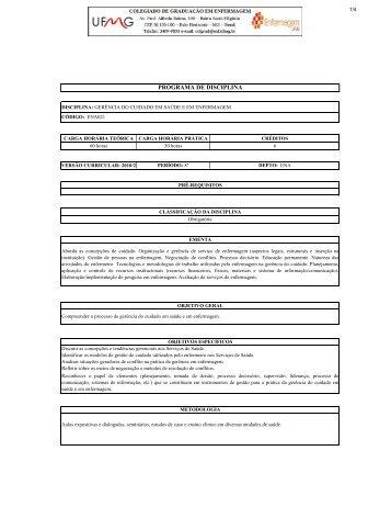 Gerência do Cuidado em Saúde e em Enfermagem - ENA022