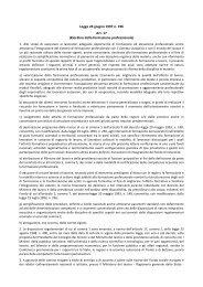 Legge 24 giugno 1997 n. 196 Art. 17 (Riordino ... - Targetsolution.it