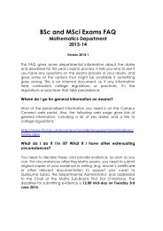 FAQ for exams