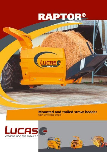 Mounted and trailed straw-bedder - Lucas G