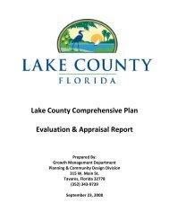 Lake County Comprehensive Plan Evaluation & Appraisal Report ...
