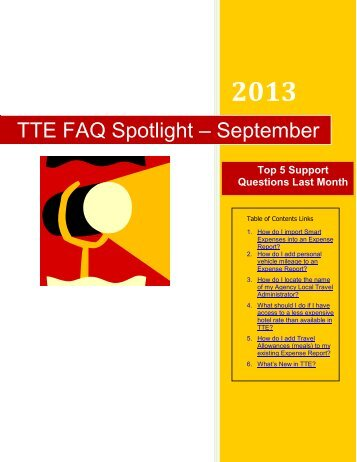 TTE FAQ Spotlight – September - State Accounting Office