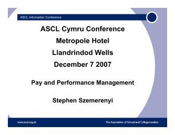 ASCL Cymru Conference Metropole Hotel Llandrindod Wells ...