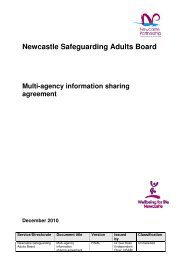 Newcastle Safeguarding Adults Board - Newcastle City Council