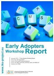 Salzburg Early Adopters Workshop Report PDF - IKS