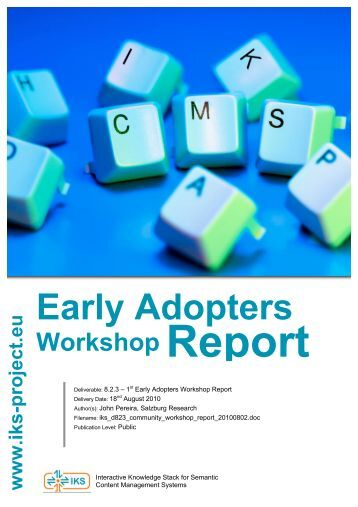 managers workshop report