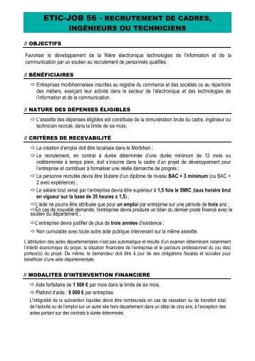 etic job 56 recrutement de cadres, ingénieurs ou techniciens