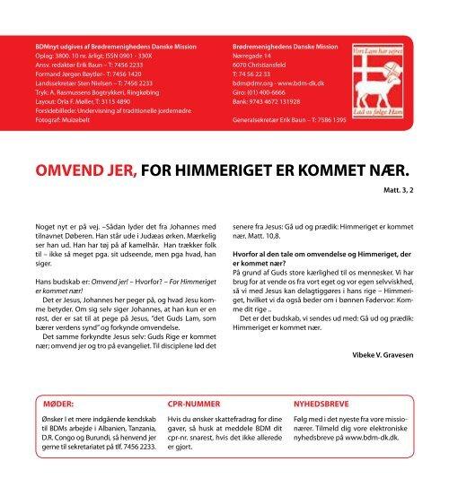 nr. 10/2010 - Brødremenighedens Danske Mission
