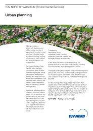 Urban planning - TÜV NORD