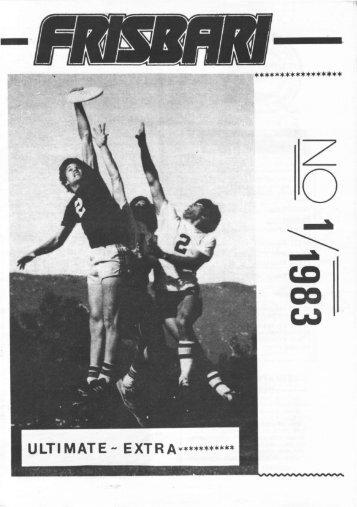 Frisbari 1/1983 - Ultimate.fi