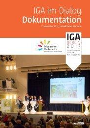 13-11-07 IGA im Dialog - Dokumentation (3,84 MB) - IGA Berlin 2017