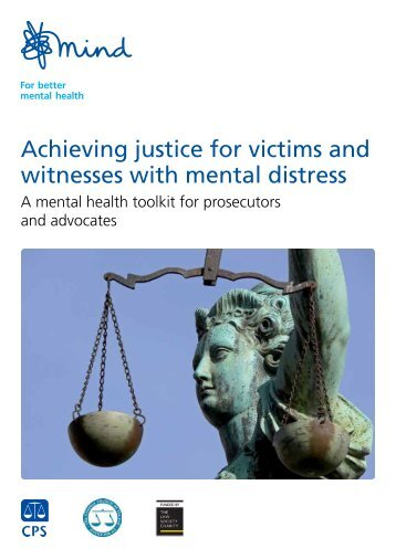 Achieving justice for victims and witnesses with mental distress