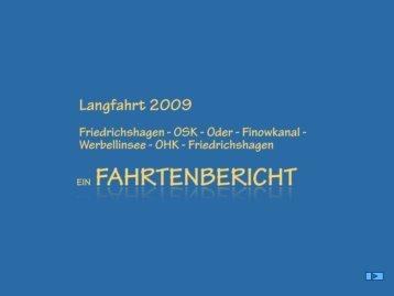 Reisebericht zur Langfahrt im Jahr 2009 - heinz-haase-fahrtensegeln