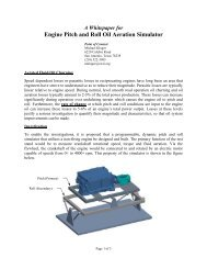 Engine Pitch and Roll Oil Aeration Simulator - Southwest Research ...