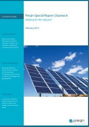 Preqin Special Report: Cleantech