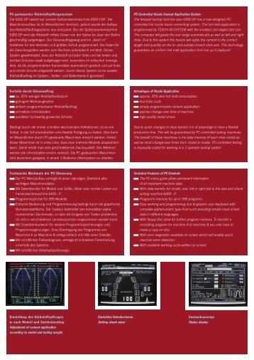 PC-gesteuertes Klebstoffauftragesystem Die 6300 DP basiert auf ...