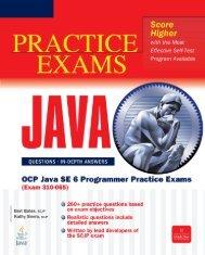 OCP Java SE 6 Programmer Practice Exams (Exam 310 ... - Kitabxana