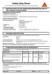 874717 COSHH Datasheet (PDF) - Travis Perkins