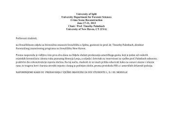 University of Verona - Sveučilišni odjel za forenzične znanosti ...