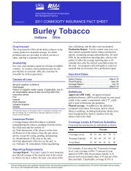 Burley Tobacco - Risk Management Agency - US Department of ...