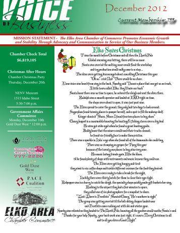 December Newsletter 2012 - Chamber Organizer