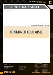 CONTAINED COLD AISLE - Conteg
