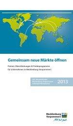 Gemeinsam neue Märkte öffnen - Mecklenburg-Vorpommern