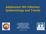 Adolescent HIV Infection: Epidemiology and Trends