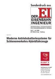 Downloaden Sie hier weitere Informationen - Saft Batterien GmbH
